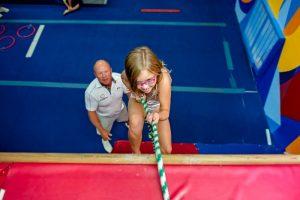 OK Gold Gymnastics Climbing Wall